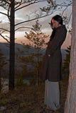 Vrouw in openlucht Stock Afbeelding
