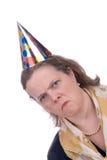 Vrouw in partijhoed stock foto's