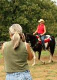 Vrouw Photograher Royalty-vrije Stock Afbeeldingen