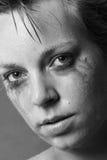 Vrouw in pijn Stock Afbeeldingen