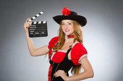 Vrouw in piraatkostuum Royalty-vrije Stock Foto