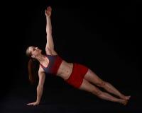 Vrouw Planking Royalty-vrije Stock Foto's