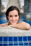 Vrouw in Pool royalty-vrije stock fotografie