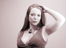 Vrouw portret-5 stock afbeelding