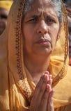 Vrouw Preying Stock Afbeeldingen