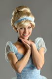 Vrouw in Prinses Costume Stock Foto
