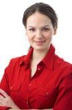 Vrouw in rood Royalty-vrije Stock Afbeelding