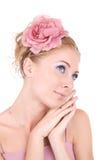 Vrouw in roze Royalty-vrije Stock Afbeelding
