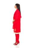 Vrouw in saree Stock Foto's