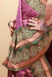 Vrouw in Saree - India Royalty-vrije Stock Foto