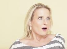 Vrouw in schok Stock Fotografie
