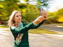 Vrouw selfie Royalty-vrije Stock Afbeelding