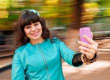 Vrouw selfie Stock Foto