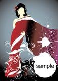 Vrouw silhouet Stock Foto