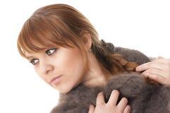 Vrouw in sjaal Royalty-vrije Stock Afbeeldingen