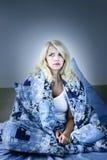 Vrouw slapeloosheids royalty-vrije stock fotografie