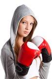 Vrouw in sportenkleren Stock Afbeelding