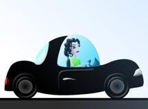 Vrouw in Sportwagen Eco Royalty-vrije Stock Foto's
