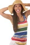 Vrouw in strandslijtage Royalty-vrije Stock Foto's