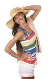 Vrouw in strandslijtage Royalty-vrije Stock Afbeelding