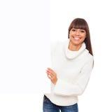 Vrouw in sweater Stock Afbeelding