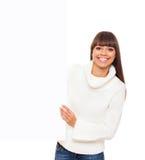 Vrouw in sweater Royalty-vrije Stock Fotografie