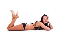 Vrouw in swimwear Stock Afbeeldingen