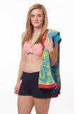 Vrouw in Swimwear Royalty-vrije Stock Afbeeldingen