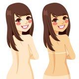 Vrouw Tan Lines stock illustratie