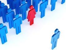 Vrouw in team Stock Foto