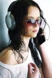 Vrouw in telefoons Royalty-vrije Stock Fotografie