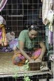 Vrouw thuis Royalty-vrije Stock Afbeeldingen