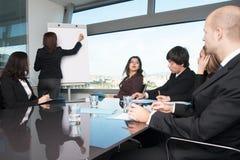 Vrouw tijdens workshop wordt afgeleid die Royalty-vrije Stock Foto