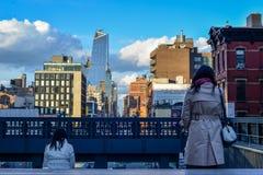 Vrouw twee op de Hy-lijn Royalty-vrije Stock Fotografie