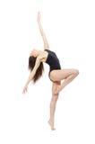Vrouw van de balletdanser de eigentijdse stijl Royalty-vrije Stock Afbeelding