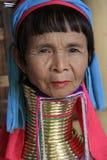 Vrouw van de Palaung de lange hals in Myanmar Royalty-vrije Stock Foto's
