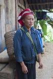 Vrouw van de Rode Dzao-Etnische minderheid Royalty-vrije Stock Foto's