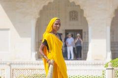 Vrouw van fourtklasse in helder Royalty-vrije Stock Foto's