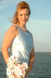 Vrouw van het Overzees Stock Foto