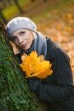 Vrouw van het stijl de jonge blonde Stock Foto