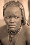 vrouw van Himba-stam Stock Afbeelding