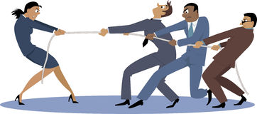 Vrouw versus mannen Royalty-vrije Stock Foto