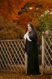 Vrouw in Victoriaanse kleding royalty-vrije stock foto's