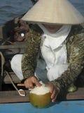 Vrouw in Vietnam Stock Foto's