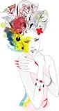Vrouw voor carnaval royalty-vrije illustratie