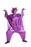 Vrouw in vreemd kostuum royalty-vrije stock foto's