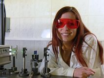 vrouw-wetenschapper 3 Royalty-vrije Stock Afbeelding