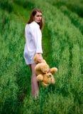Vrouw in wit Royalty-vrije Stock Foto