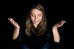 Vrouw Worshiping Stock Afbeeldingen