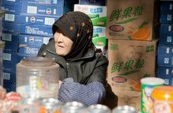 Vrouw in Xian, China royalty-vrije stock fotografie